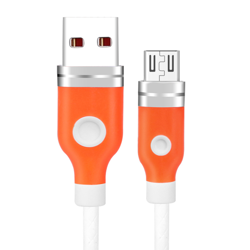 1M Aluminum Alloy Micro USB Android Charger Cable - White
