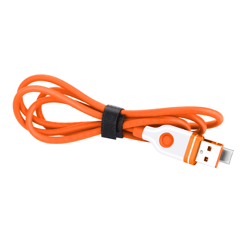 1M Aluminum Alloy Micro USB Android Charger Cable - Orange