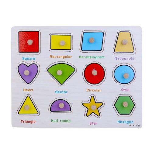 Early Education Enlightenment Baby Kids Cognitive Board Grasping Board Letter Number Graphics Wooden Puzzle - Graphic