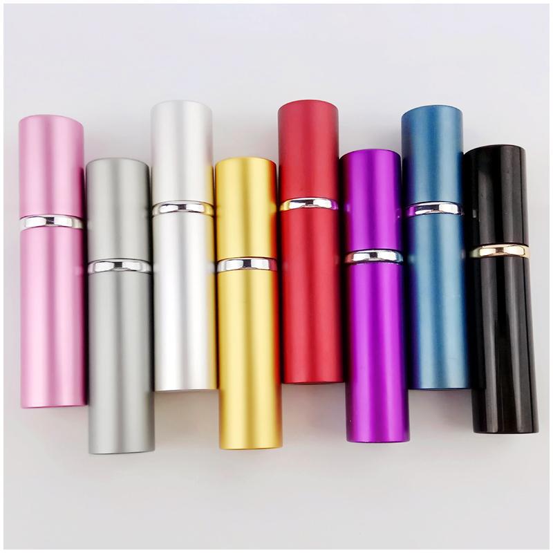 5ml Portable Refillable Perfume Atomiser Atomizer Aftershave Travel Spray Bottle Pump Miniature Sub-bottle - Gold