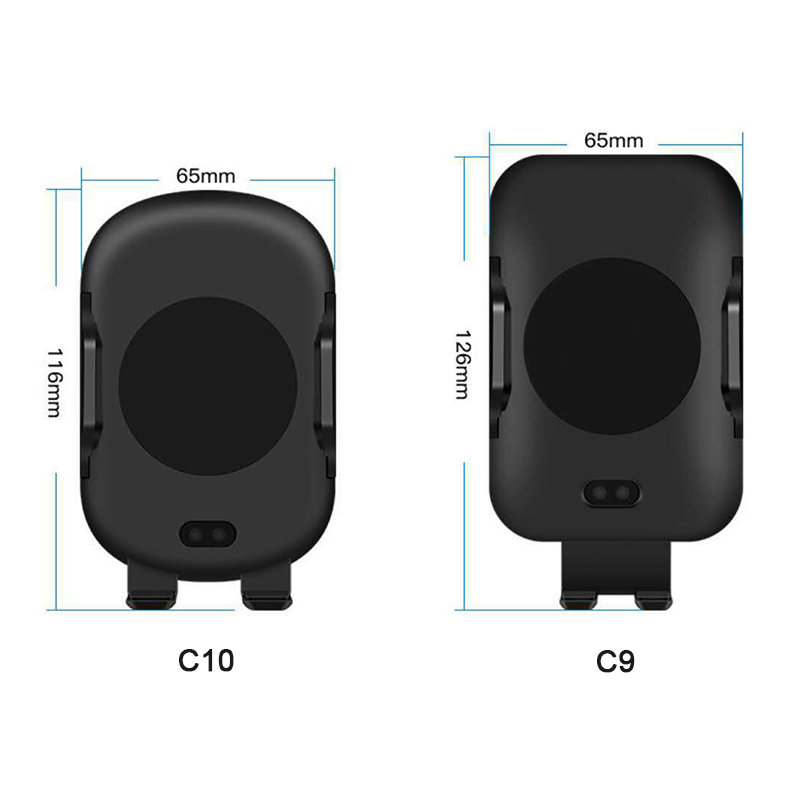 C10 QI Standard Car Wireless Charger Stand Auto Infrared Induction Air Vent Car Phone Holder Charger