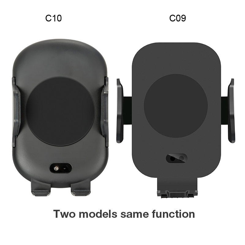 C9 QI Car Fast Wireless Charger Stand Infrared Auto-sensing Air Vent Car Phone Mount Holder