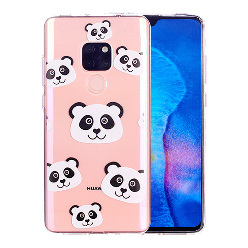 Cute Funny Cartoon Soft TPU Phone Case Slim Thin Phone Cover for Huawei Mate 20 - Panda