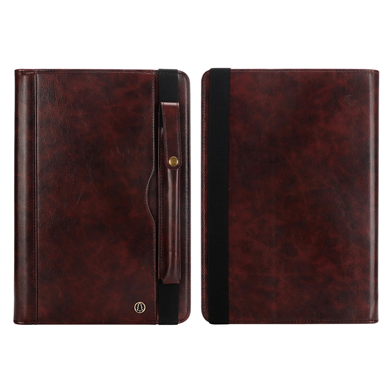 "Tablet PC Flip Wallet PU Leather Case Cover with Card Pen Slot Kickstand for iPad Pro 11"" 2018 - Dark Brown"