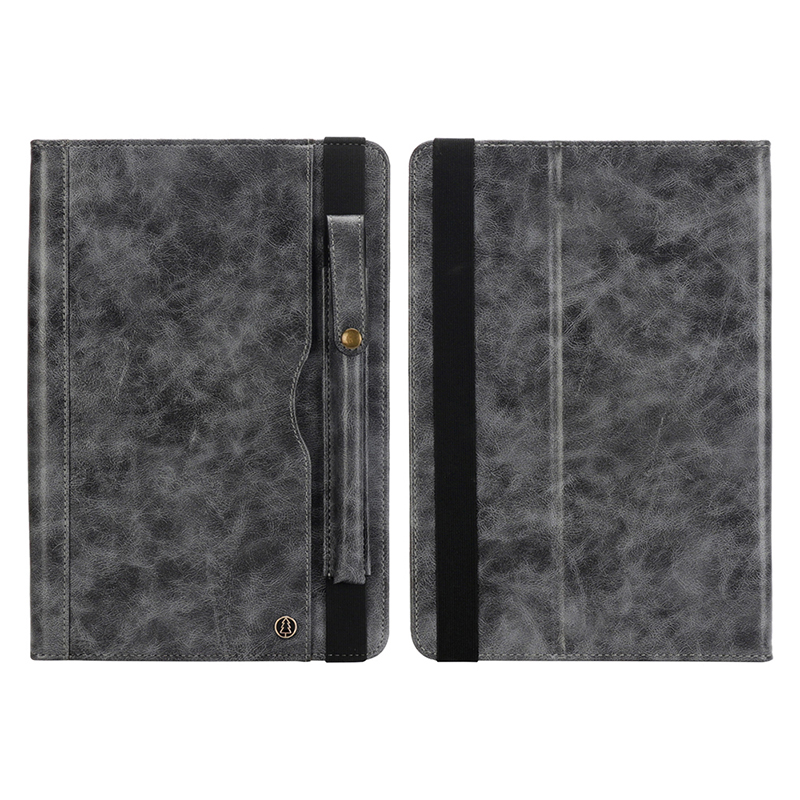 "Tablet PC Flip Wallet PU Leather Case Cover with Card Pen Slot Kickstand for iPad Pro 11"" 2018 - Grey"