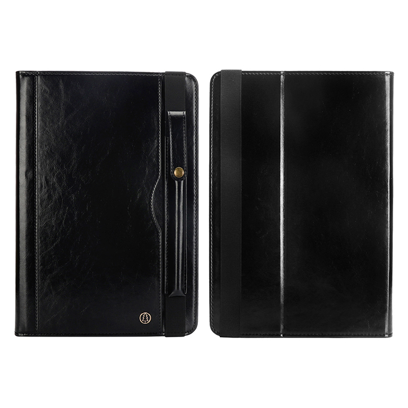 "Tablet PC Flip Wallet PU Leather Case Cover with Card Pen Slot Kickstand for iPad Pro 11"" 2018 - Black"
