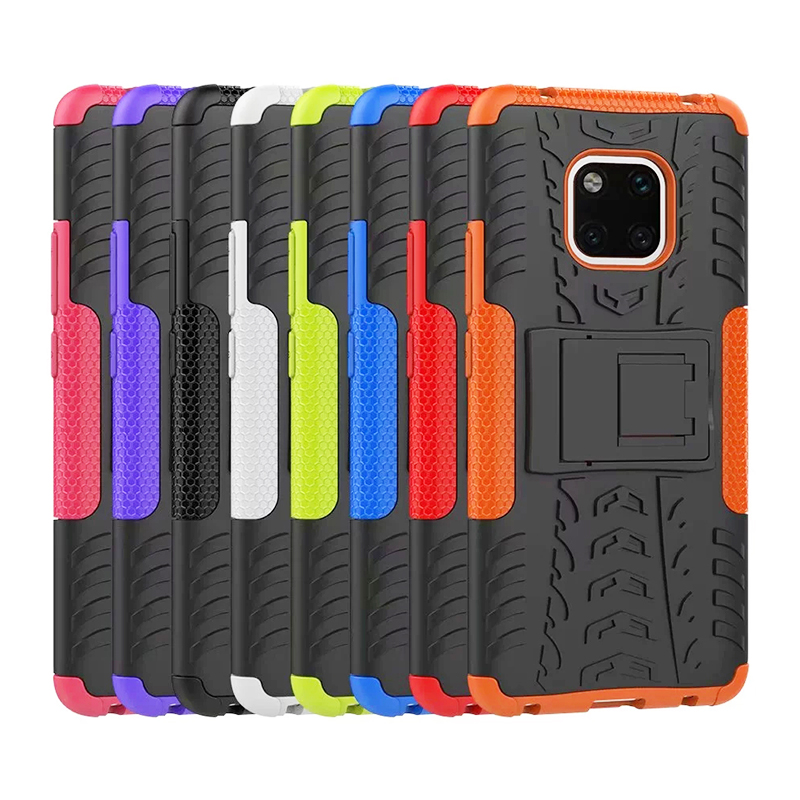TPU + PC Rugged Hybrid Armor Phone Protective Case for Huawei Mate 20 Pro - Orange
