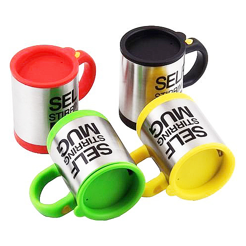 Self Stirring Mug Coffee Cup Auto Mixer Drink Tea Home Insulated Stainless 400ml - Yellow