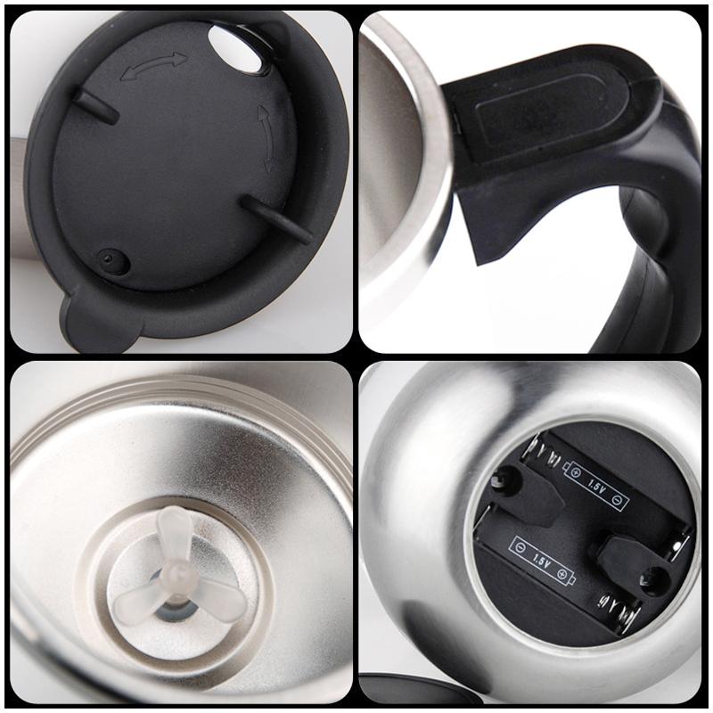 450ML Coffee Cup Mug Thermal Auto Stirring Self Work Office Desk Car Stir Tea Cup Gift - Black