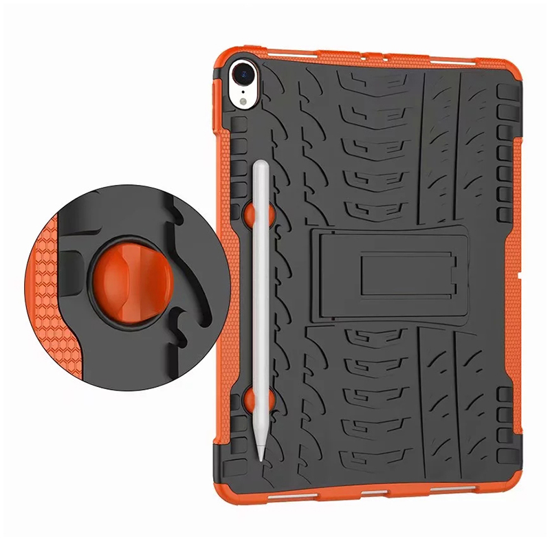 "Heavy Duty Hybrid PC + TPU Rugged Armor iPad Case Cover for iPad Pro 11"" - Orange"
