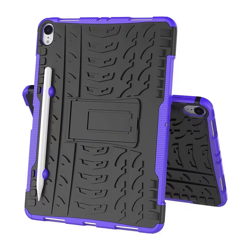 "Heavy Duty Hybrid PC + TPU Rugged Armor iPad Case Cover for iPad Pro 11"" - Purple"