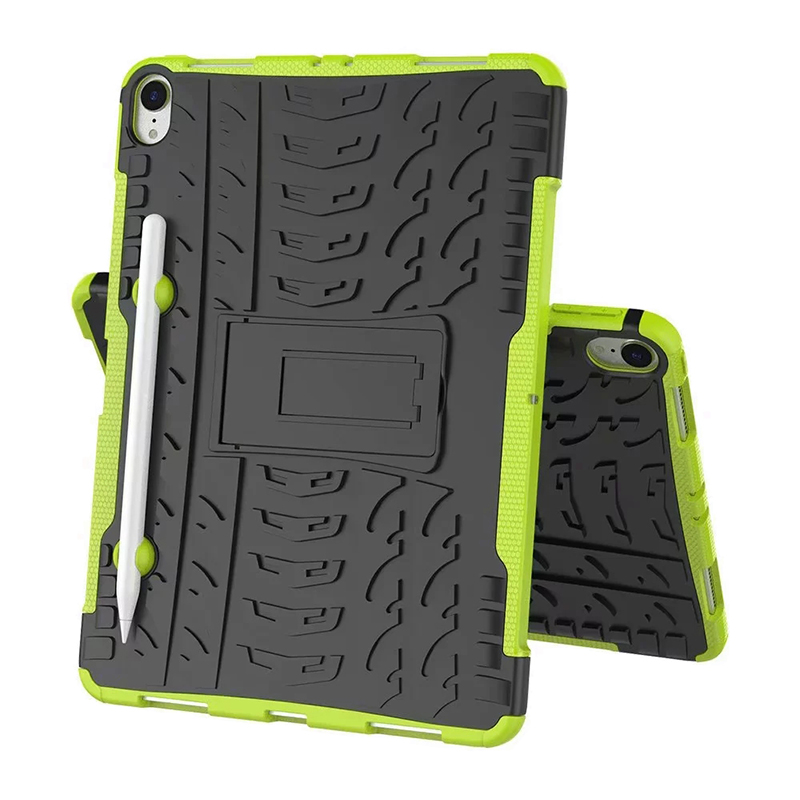 "Heavy Duty Hybrid PC + TPU Rugged Armor iPad Case Cover for iPad Pro 11"" - Green"