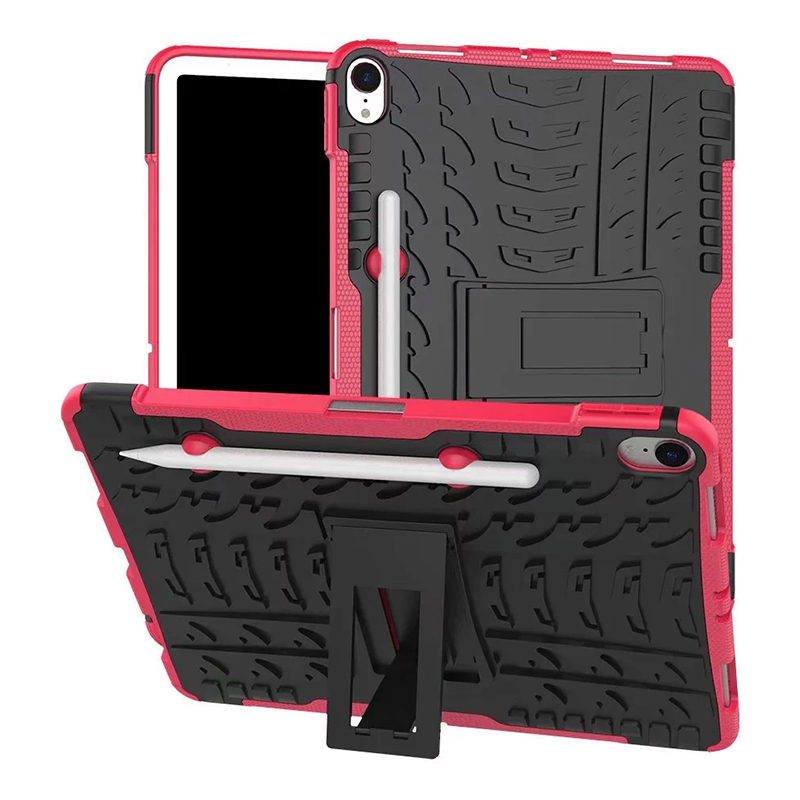 "Heavy Duty Hybrid PC + TPU Rugged Armor iPad Case Cover for iPad Pro 11"" - Hot Pink"