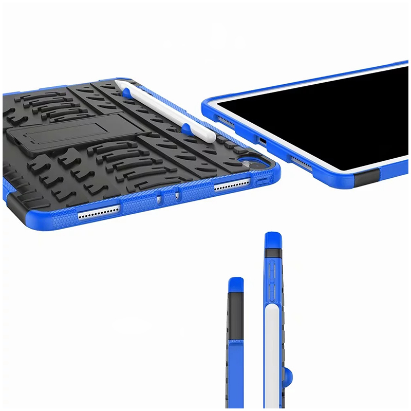 "Heavy Duty Hybrid PC + TPU Rugged Armor iPad Case Cover for iPad Pro 11"" - Blue"