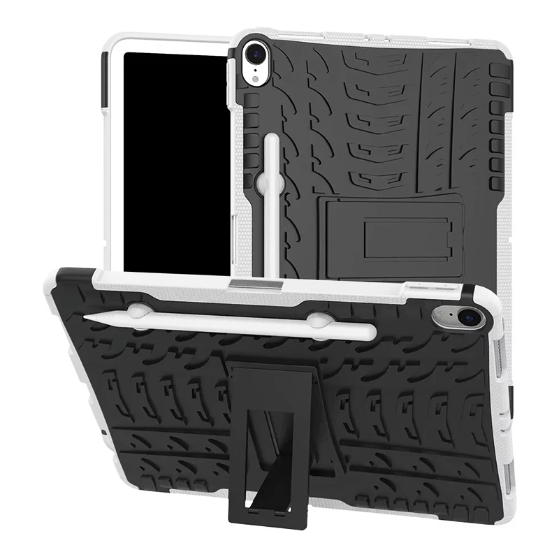 "Heavy Duty Hybrid PC + TPU Rugged Armor iPad Case Cover for iPad Pro 11"" - White"