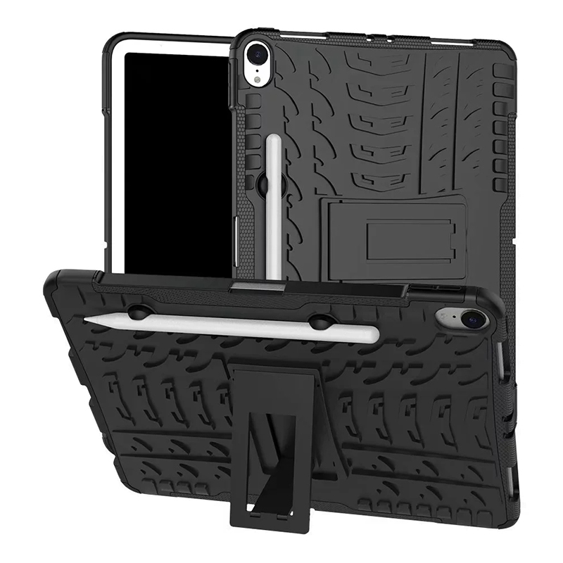 "Heavy Duty Hybrid PC + TPU Rugged Armor iPad Case Cover for iPad Pro 11"" - Black"