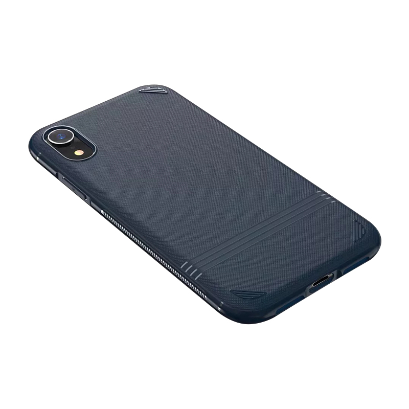 Fine Hand-feeling Thin Matte Grained TPU Soft Phone Case Cellphone Cover for iPhone XR - Blue