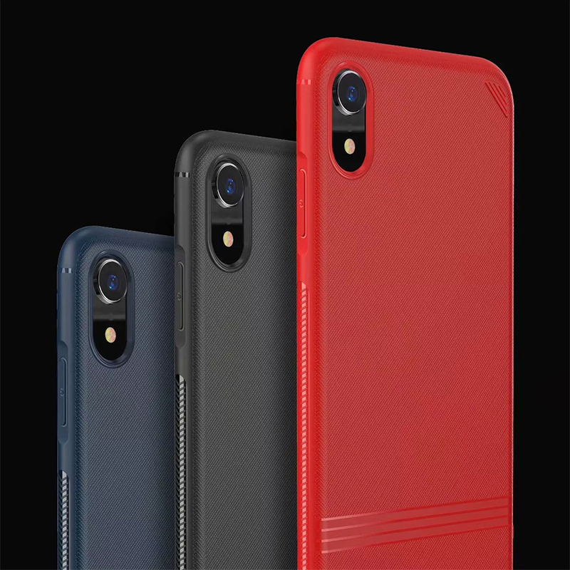 Fine Hand-feeling Thin Matte Grained TPU Soft Phone Case Cellphone Cover for iPhone XR - Red