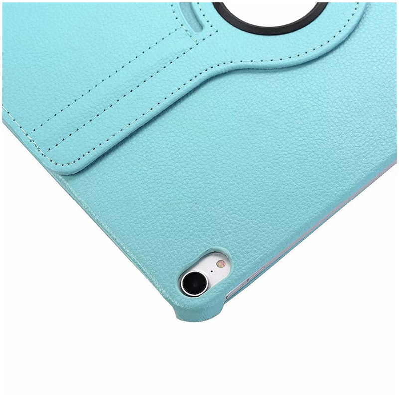 "360 Degree Rotating Smart Leather Stand Cover Case with Auto Sleep/Wake for Apple iPad Pro 12.9"" 2018 - Light Blue"