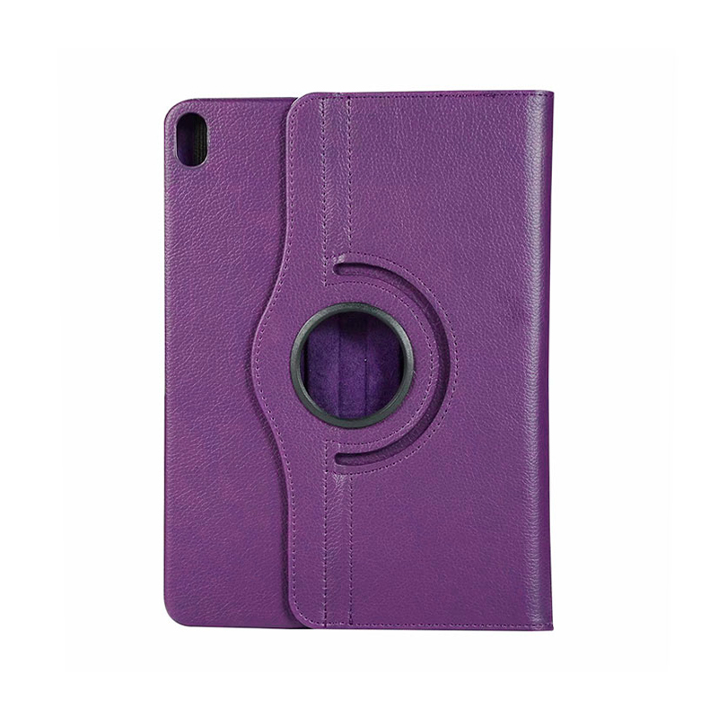 "360 Degree Rotating Smart Leather Stand Cover Case with Auto Sleep/Wake for Apple iPad Pro 12.9"" 2018 - Purple"