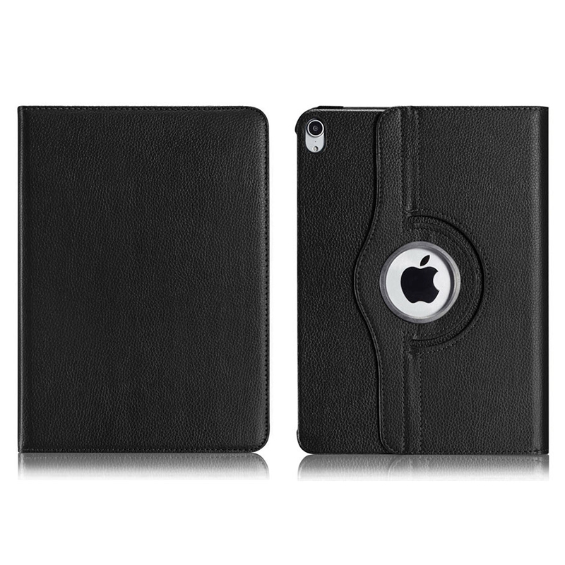 "360 Degree Rotating Smart Leather Stand Cover Case with Auto Sleep/Wake for Apple iPad Pro 12.9"" 2018 - Black"