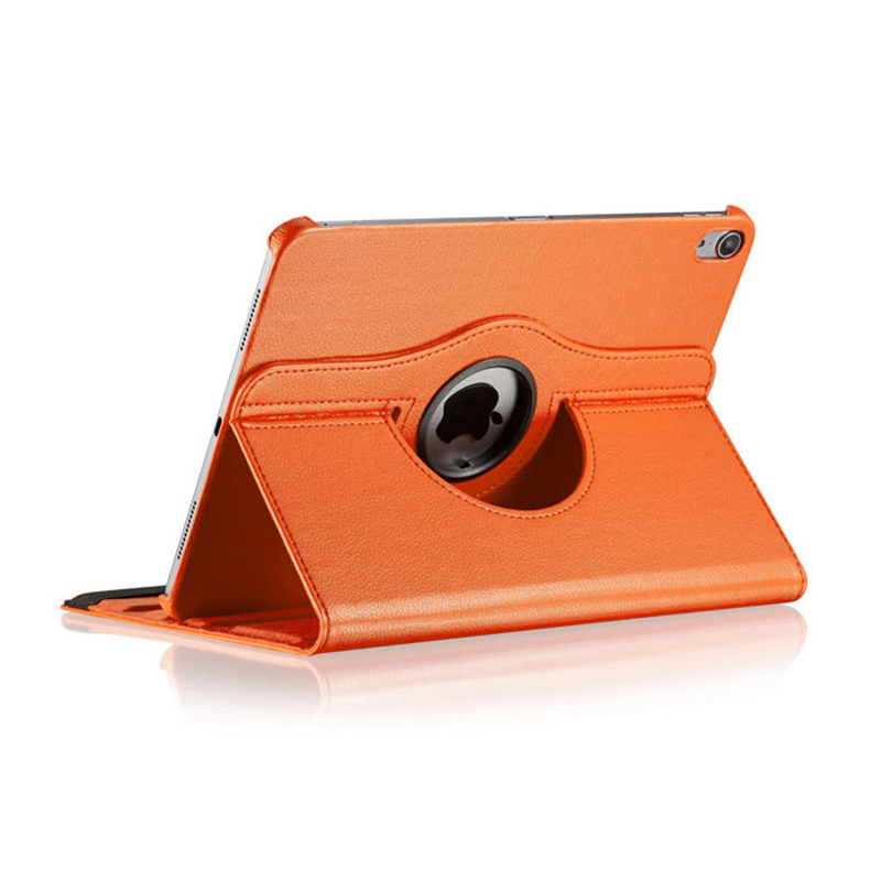 "360 Degree Rotating Smart PU Stand Cover Case with Auto Sleep/Wake Function for Apple iPad Pro 11"" 2018 - Orange"