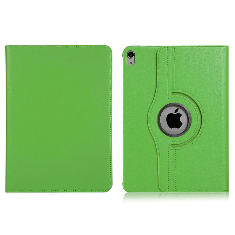 "360 Degree Rotating Smart PU Stand Cover Case with Auto Sleep/Wake Function for Apple iPad Pro 11"" 2018 - Green"