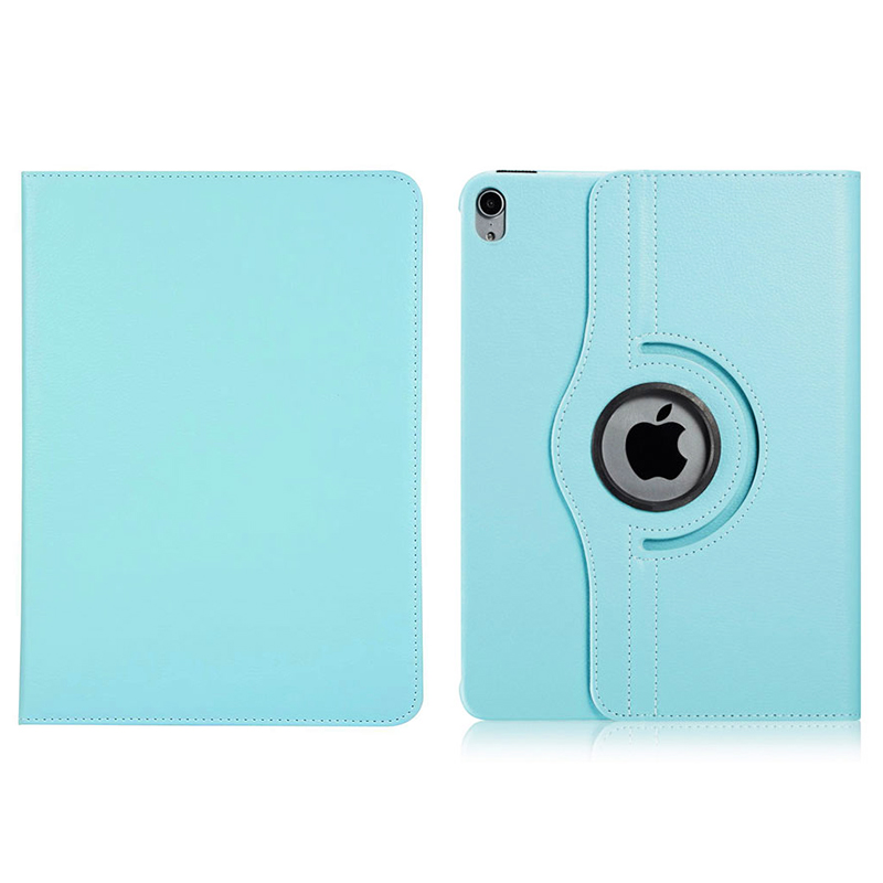"360 Degree Rotating Smart PU Stand Cover Case with Auto Sleep/Wake Function for Apple iPad Pro 11"" 2018 - Light Blue"