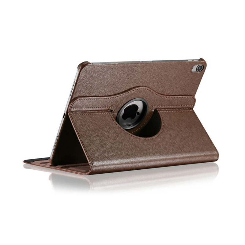 "360 Degree Rotating Smart PU Stand Cover Case with Auto Sleep/Wake Function for Apple iPad Pro 11"" 2018 - Brown"