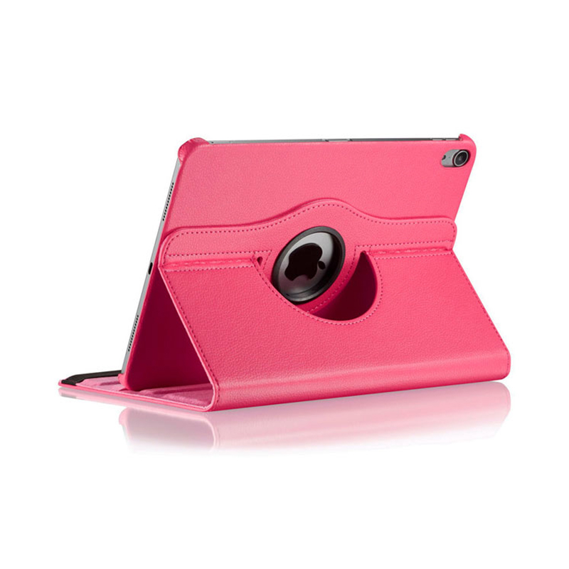"360 Degree Rotating Smart PU Stand Cover Case with Auto Sleep/Wake Function for Apple iPad Pro 11"" 2018 - Hot Pink"