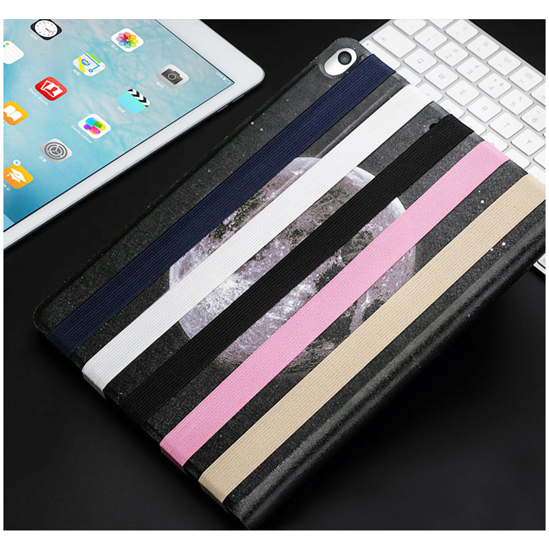 Elastic Strap PU Leather Pencil Pocket Case Pouch Cover Sleeve Holder for Apple Pencil - White