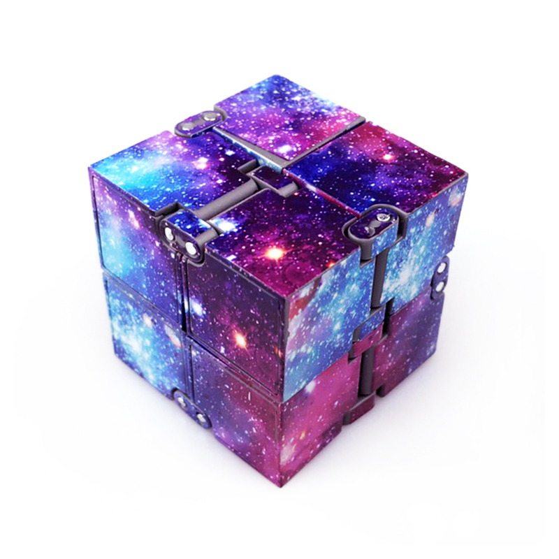 Sensory Infinity Cube Stress Fidget Toys for Autism Anxiety Relief Kids Adult - Starry Sky