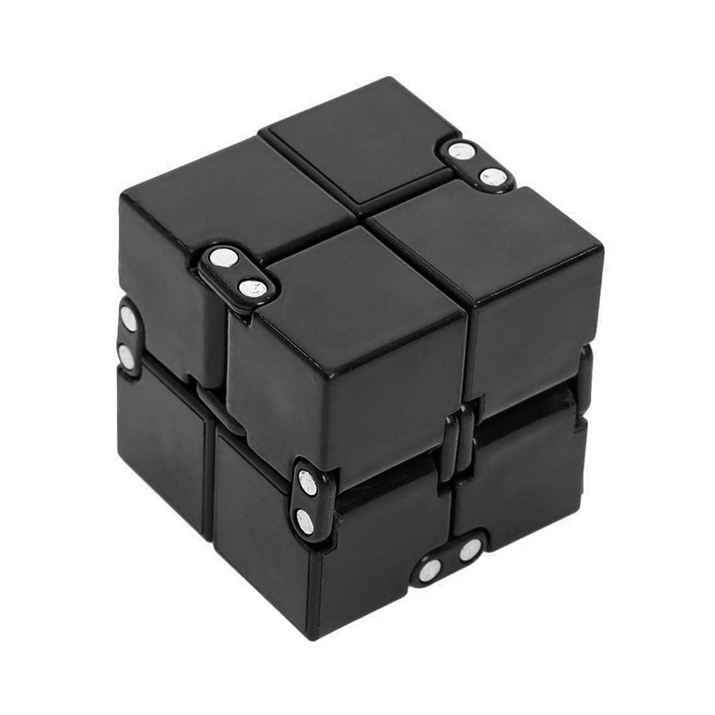 Sensory Infinity Cube Stress Fidget Toys for Autism Anxiety Relief Kids Adult - Black