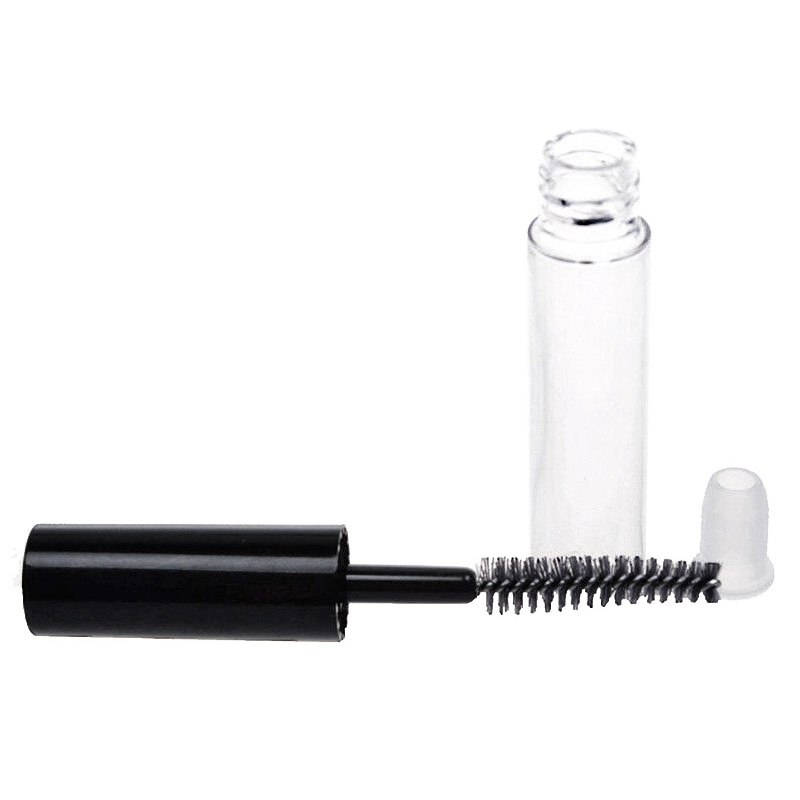 Mini Empty Mascara Tube with Brush Eyelash Wand Bottle DIY Eyelash Cream Container - 1ml
