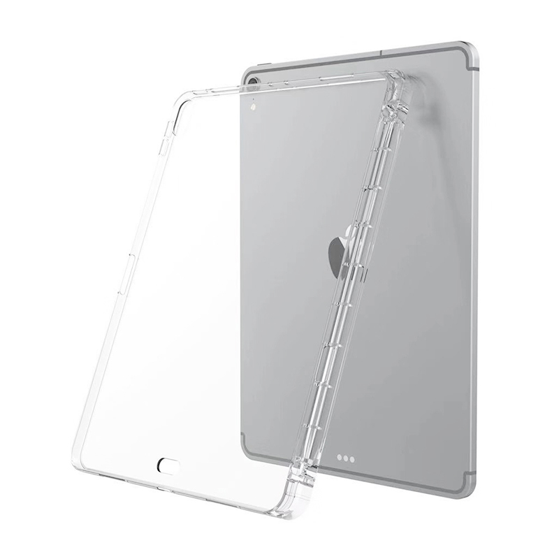 Crystal Transparent Soft TPU Back Cover With Pencil Holder for iPad Pro 12.9 inch 2018
