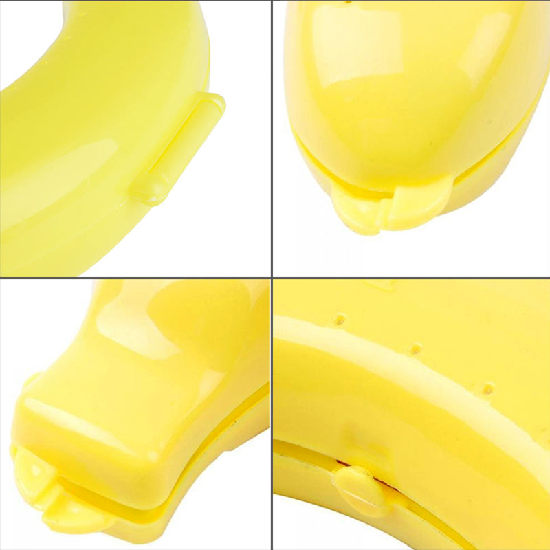 Cute Plastic Outdoor Portable Travel Fruit Banana Protector Case Carrier Storage Box Container - Yellow