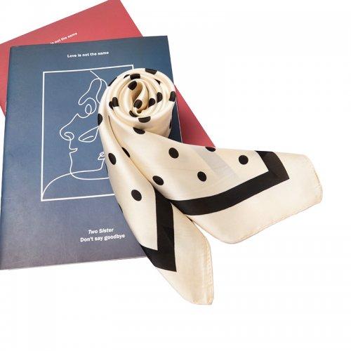 70*70cm Ladies Women Faux Silk Satin Scarf Neck Thin Square Mini Patterned Scarf - #335