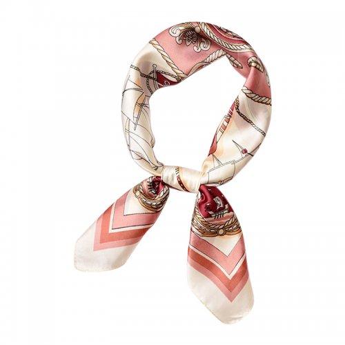 70*70cm Ladies Women Faux Silk Satin Scarf Neck Thin Square Mini Patterned Scarf - #327