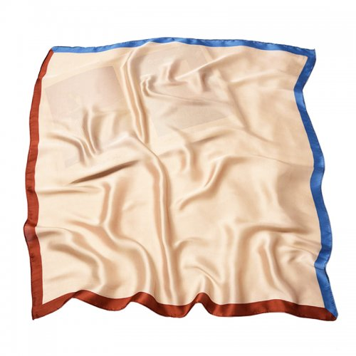 70*70cm Ladies Women Faux Silk Satin Scarf Neck Thin Square Mini Patterned Scarf - #325