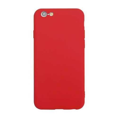 Ultra Slim Light TPU Gel Case Flexible Soft Silicone Shockproof Back Cover for iPhone 6/6s - Red