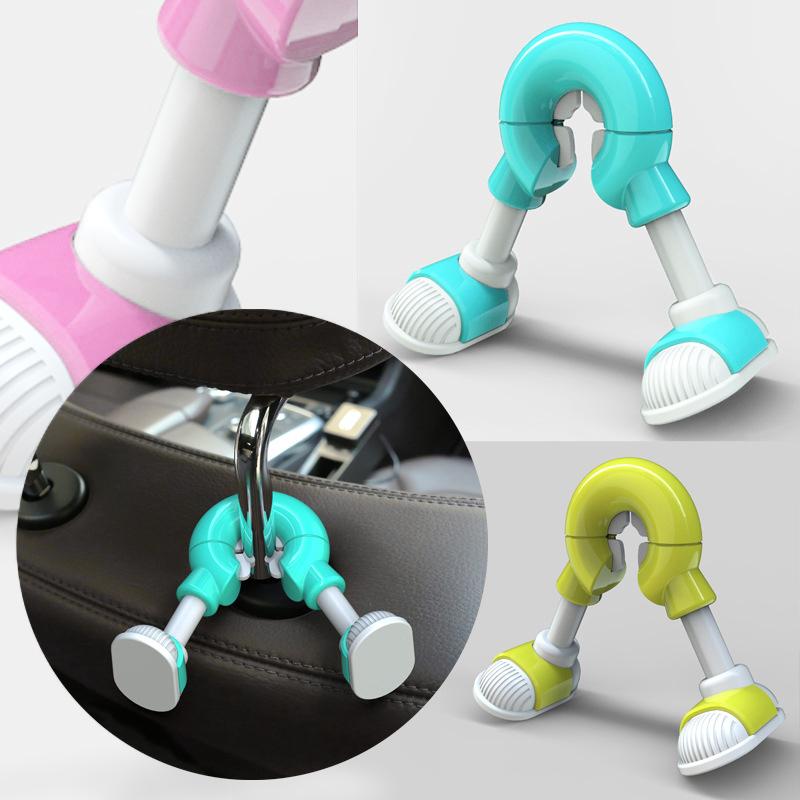 Cartoon Foot Universal Car Hooks Car Seat Hanger Hook - Pink