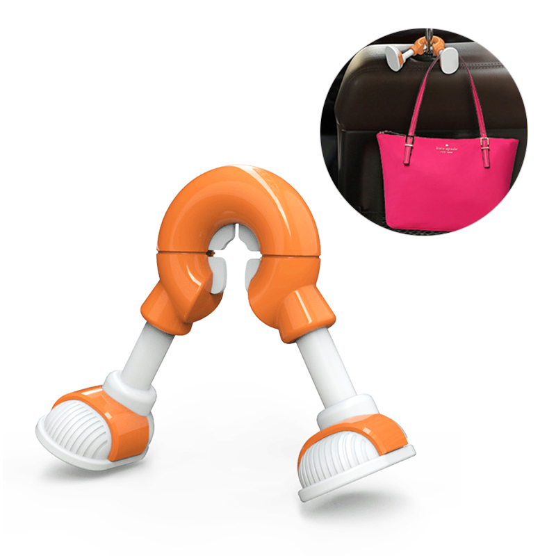 Cartoon Foot Universal Car Hooks Car Seat Hanger Hook - Orange