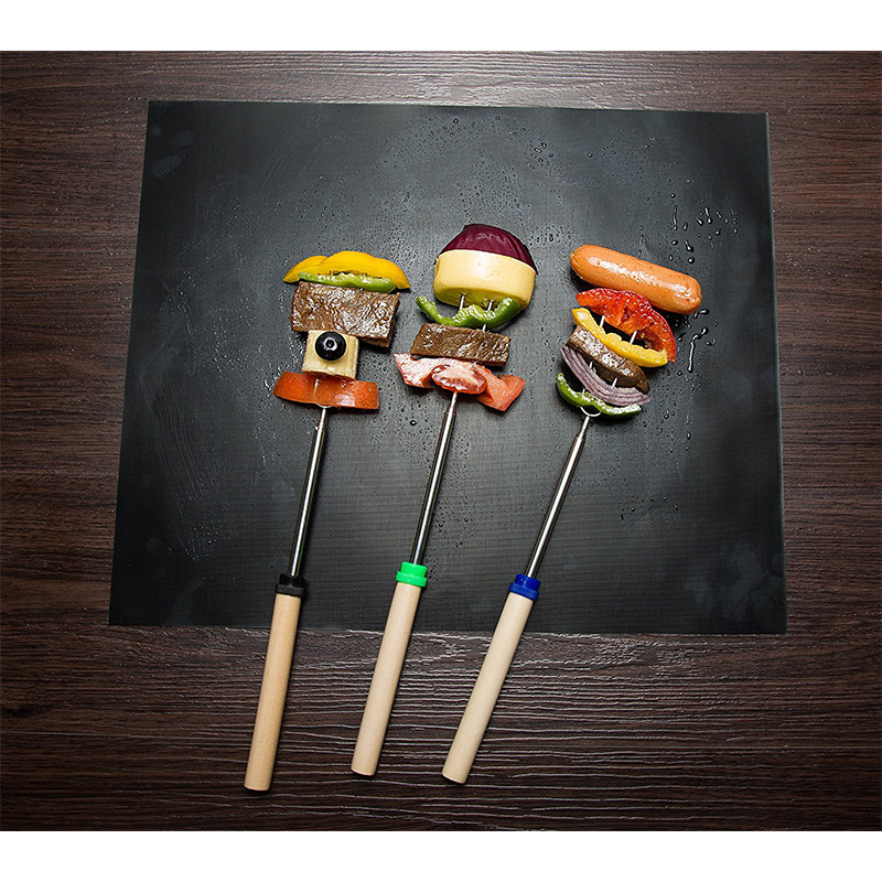 5Pcs Reusable Non-Stick BBQ Grill Mat Pad Baking Cooking Barbecue Tool