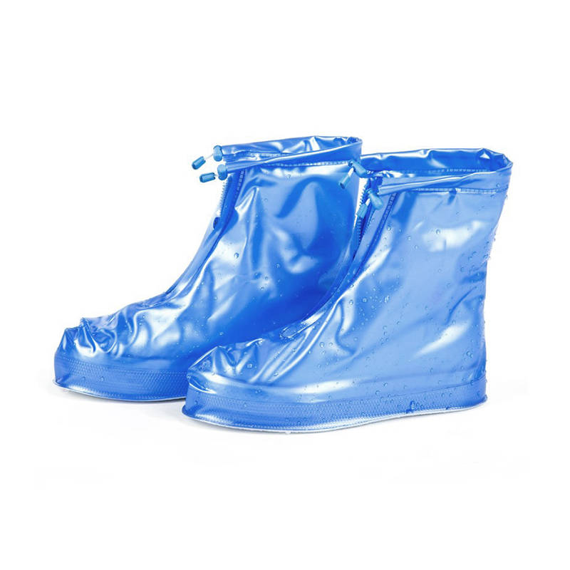 Reusable Waterproof Rain Shoes Cover Protector Water Shoes for Children Adult Blue - L