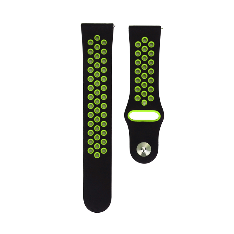 Silicone Sport Replacement Band Wrist Strap for Samsung Galaxy Watch 46mm - Black & Yellow