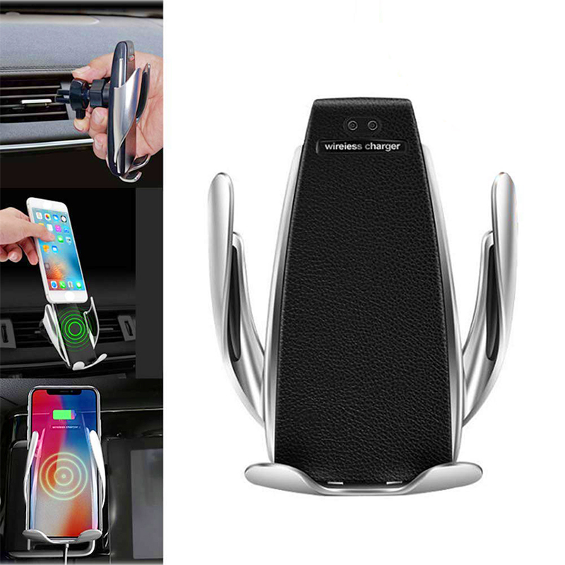 Automatic Clamping Car Wireless Phone Charger Air Vent Mount Charging Holder
