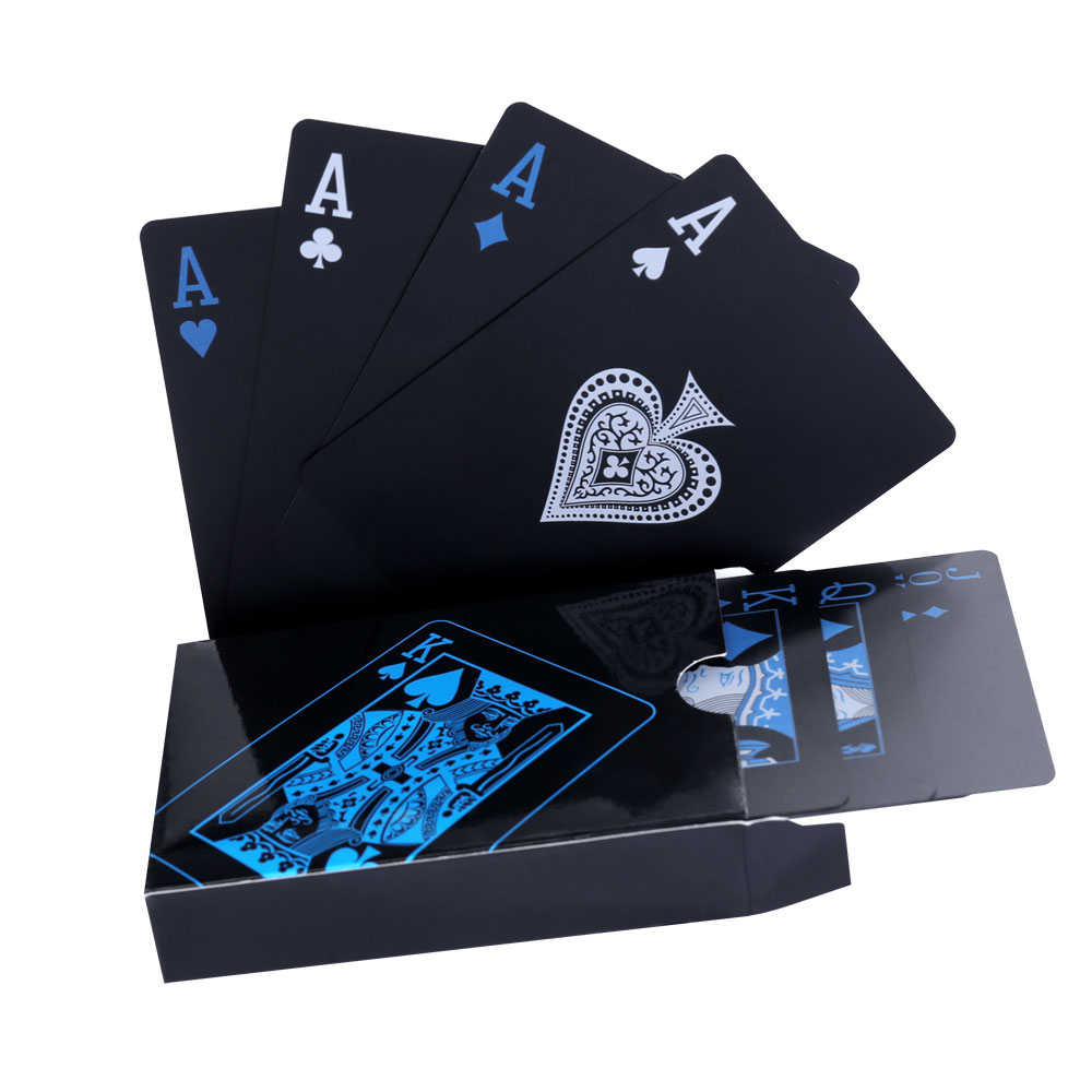 Waterproof Playing Cards Quality Plastic PVC Poker Gift Adult Toys - Blue