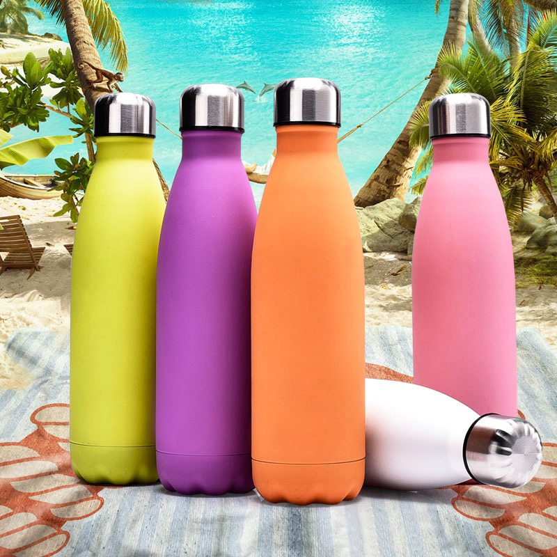 500ML Water Flask Stainless Steel Double Wall Vacuum Insulated Keep Hot and Cold Water Bottle - Matte Light Purple