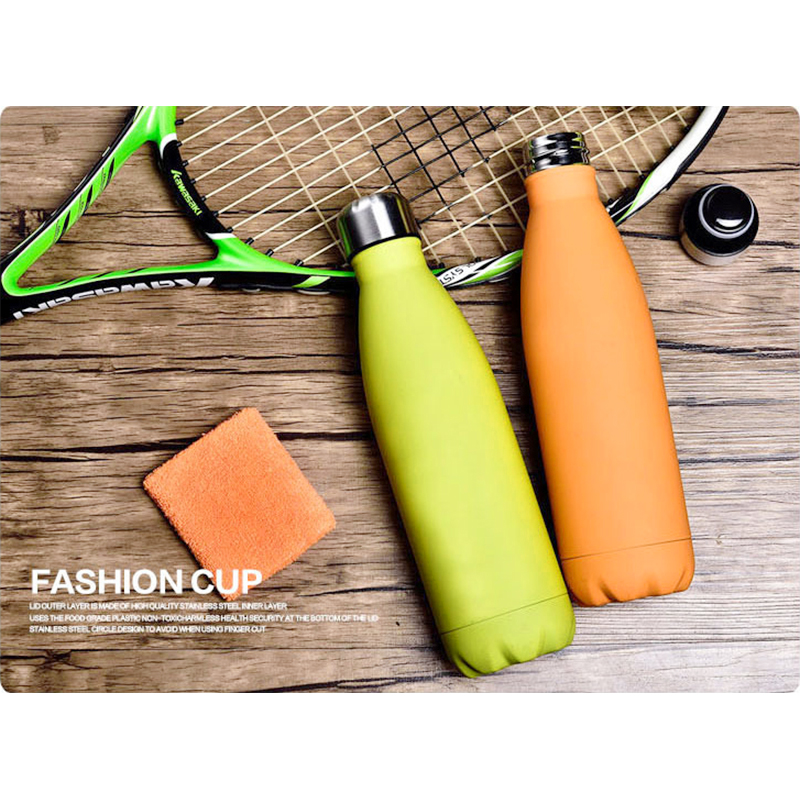 500ML Water Flask Stainless Steel Double Wall Vacuum Insulated Keep Hot and Cold Water Bottle - Matte Grass green