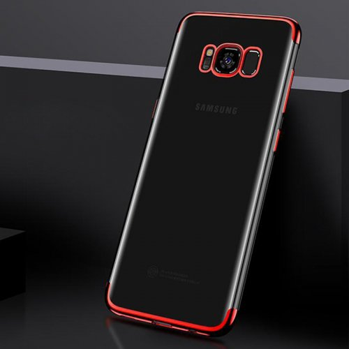 Plating Slim Soft TPU Phone Case Cover for Samsung Galaxy S8 Plus - Red